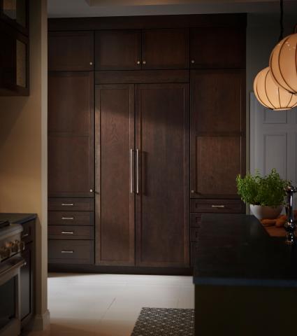 Rustic Kitchen Refrigerator Columns