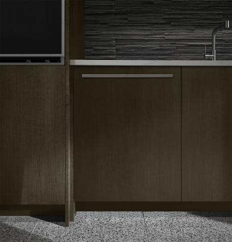 Built-in, paneled dishwasher